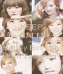 KEEP CALM AND Happy Birthday Kim Taeyeon - Personalised Poster A1 size