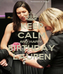 KEEP CALM AND HAPPY  BIRTHDAY LAUREN - Personalised Poster A1 size