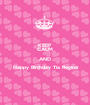 KEEP CALM AND Happy Birthday Tia Regina  - Personalised Poster A1 size