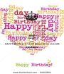 KEEP CALM AND HAPPY BIRTHDAY TO MY BEAUTIFUL COUSIN ANNABELL - Personalised Poster A1 size