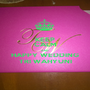 KEEP CALM AND HAPPY WEDDING TRI WAHYUNI - Personalised Poster A1 size