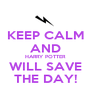 KEEP CALM AND HARRY POTTER WILL SAVE THE DAY! - Personalised Poster A1 size