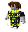 KEEP CALM AND HATE NOOBS - Personalised Poster A1 size