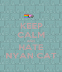 KEEP CALM AND HATE NYAN CAT - Personalised Poster A1 size