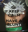 KEEP CALM AND HAVE A BLUNT - Personalised Poster A1 size