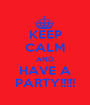 KEEP CALM AND HAVE A PARTY!!!!! - Personalised Poster A1 size