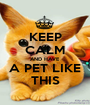 KEEP CALM AND HAVE A PET LIKE THIS - Personalised Poster A1 size
