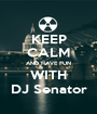 KEEP CALM AND HAVE FUN WITH DJ Senator - Personalised Poster A1 size