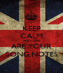 KEEP CALM AND HERE ARE YOUR SONG NOTES - Personalised Poster A1 size