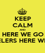 KEEP CALM AND HERE WE GO STEELERS HERE WE GO - Personalised Poster A1 size