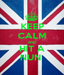 KEEP CALM AND HIT A NUN  - Personalised Poster A1 size