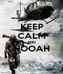 KEEP CALM AND HOOAH  - Personalised Poster A1 size