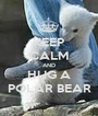 KEEP CALM AND HUG A POLAR BEAR - Personalised Poster A1 size