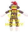 KEEP CALM AND HUG A  SOCK MONKEY - Personalised Poster A1 size