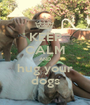 KEEP CALM AND hug your dogs - Personalised Poster A1 size