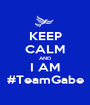 KEEP CALM AND I AM #TeamGabe - Personalised Poster A1 size