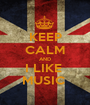 KEEP CALM AND I LIKE  MUSIC  - Personalised Poster A1 size