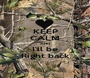 KEEP CALM AND I'll be Right back - Personalised Poster A1 size