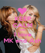 KEEP CALM AND I love MK and Ash - Personalised Poster A1 size