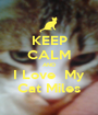 KEEP CALM AND I Love  My Cat Miles - Personalised Poster A1 size