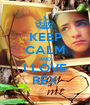 KEEP CALM AND I LOVE REX - Personalised Poster A1 size