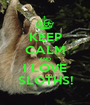 KEEP CALM AND I LOVE SLOTHS! - Personalised Poster A1 size