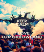 KEEP CALM AND I LOVE TOMORROWLAND - Personalised Poster A1 size