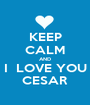 KEEP CALM AND I  LOVE YOU CESAR - Personalised Poster A1 size
