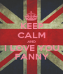 KEEP CALM AND I LOVE YOU FANNY - Personalised Poster A1 size