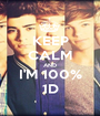 KEEP CALM AND I'M 100% 1D - Personalised Poster A1 size