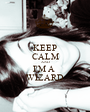 KEEP CALM AND I'M A  WIZARD - Personalised Poster A1 size
