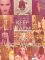 KEEP CALM AND I'M WIDE AWAKE - Personalised Poster A1 size