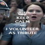 KEEP CALM AND I VOLUNTEER AS TRIBUTE - Personalised Poster A1 size