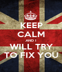 KEEP CALM AND I WILL TRY TO FIX YOU - Personalised Poster A1 size