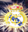 KEEP CALM AND IHALLA MADRIT <3 - Personalised Poster A1 size