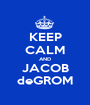 KEEP CALM AND JACOB deGROM - Personalised Poster A1 size