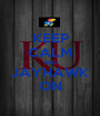 KEEP CALM AND JAYHAWK ON - Personalised Poster A1 size