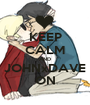 KEEP CALM AND JOHNxDAVE ON - Personalised Poster A1 size