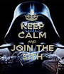 KEEP CALM AND JOIN THE SITH - Personalised Poster A1 size
