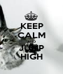 KEEP CALM AND JUMP HIGH - Personalised Poster A1 size