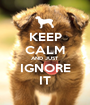KEEP CALM AND JUST IGNORE IT - Personalised Poster A1 size