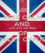 KEEP CALM AND  JUST LIKE THE FANS  OF MILEY CYRUS - Personalised Poster A1 size