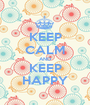 KEEP CALM AND KEEP HAPPY - Personalised Poster A1 size