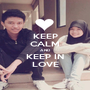 KEEP CALM AND KEEP IN LOVE - Personalised Poster A1 size