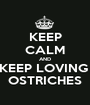 KEEP CALM AND KEEP LOVING  OSTRICHES - Personalised Poster A1 size