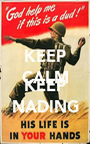KEEP CALM AND KEEP NADING - Personalised Poster A1 size