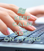KEEP CALM AND KEEP ON TYPING - Personalised Poster A1 size