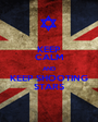 KEEP CALM AND KEEP SHOOTING STARS - Personalised Poster A1 size