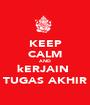 KEEP CALM AND kERJAIN  TUGAS AKHIR - Personalised Poster A1 size