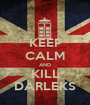 KEEP CALM AND KILL DARLEKS - Personalised Poster A1 size